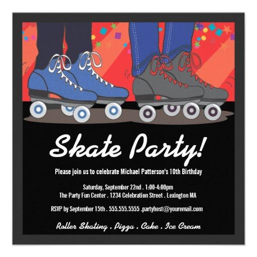 Personalized Roller skate Invitations CustomInvitations4Ucom