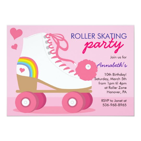 Roller Skating Birthday Party Invitations – Roller Skating Birthday Party Invitations