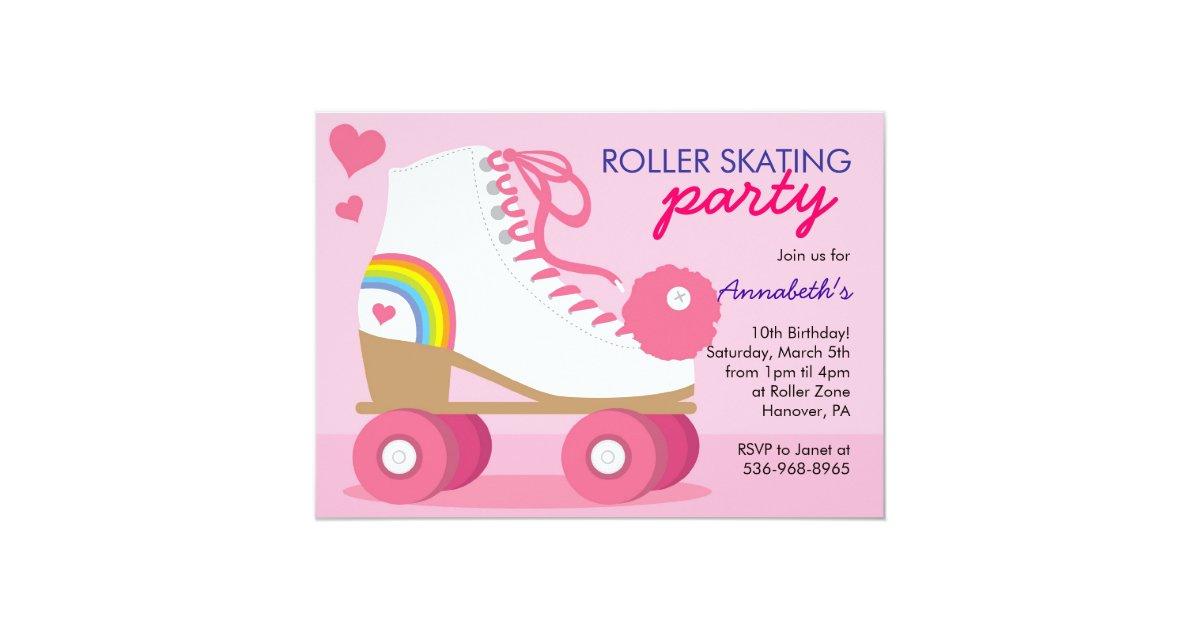 Roller Skating Birthday Party Invitations   Zazzle.com