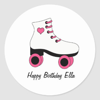 Roller Skating Birthday Personalized Stickers