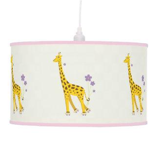 Roller Skating Funny Giraffe Hanging Pendant Lamps