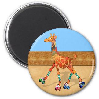 Roller Skating Giraffe at the Roller Rink Magnet