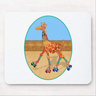 Roller Skating Giraffe at the Roller Rink Mouse Pad