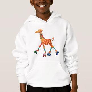 Roller Skating Giraffe Hoodie