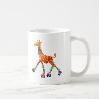 Roller Skating Giraffe Classic White Coffee Mug