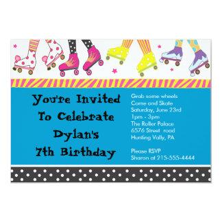 Roller Skating Invitation Happy Birthday Party