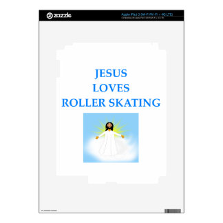 roller skating iPad 3 decal