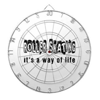 Roller Skating It's a way of life Dartboard With Darts