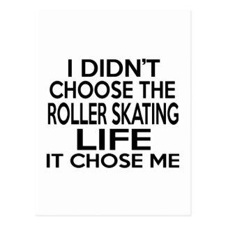 ROLLER SKATING LIFE DESIGNS POSTCARD