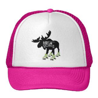 Roller Skating Moose Trucker Hat