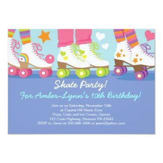 Roller Skating Party Birthday Invitations
