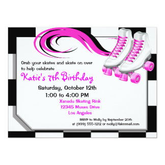 Roller Skating Party Custom Invitations