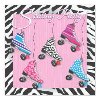 Roller Skating Party Invitations