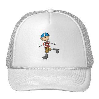 Roller Skating Stick Figure Trucker Hat