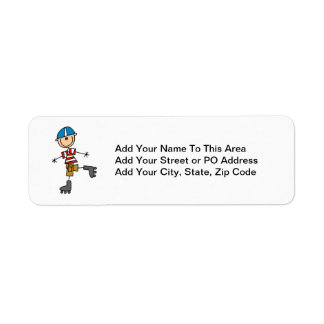 Roller Skating Stick Figure Custom Return Address Label