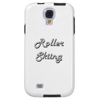 Roller Skiing Classic Retro Design Galaxy S4 Case