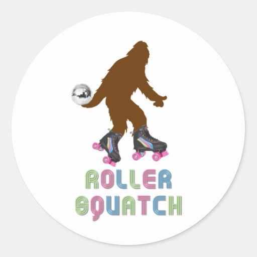 Roller Squatch Classic Round Sticker