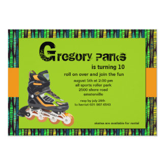 Rollerblade Party Invitation