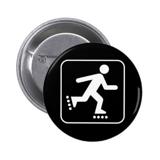 Rollerblade Symbol Button