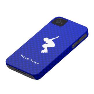 Rollerblading azul Case-Mate iPhone 4 carcasa