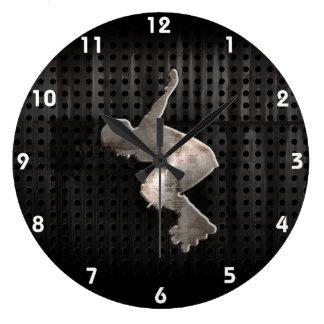 Rollerblading; Cool Black Large Clock