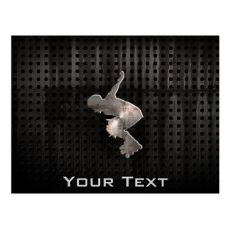 Rollerblading; Cool Black Postcard