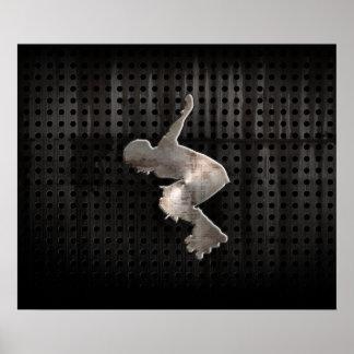 Rollerblading; Cool Black Poster