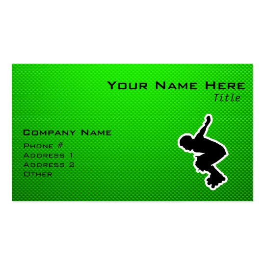 Rollerblading cop business card