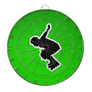 Rollerblading cop dart board