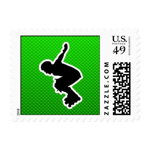 Rollerblading cop stamps