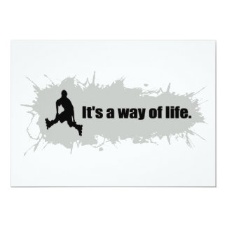 Rollerblading is a Way of Life Card
