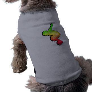 Rollerblading liso playera sin mangas para perro
