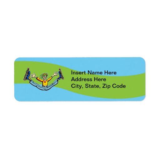 Rollerblading Return Address Label