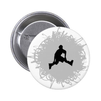 Rollerblading Scribble Style Button