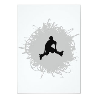 Rollerblading Scribble Style Card
