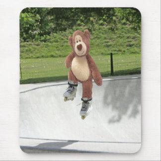 Rollerblading Teddy Bear Mousepad
