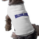 Rollerblading University Style Pet T Shirt