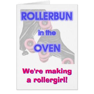 Rollerbun en el horno tarjeta de felicitación