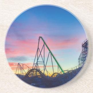 rollercoaster amusement ride drink coaster