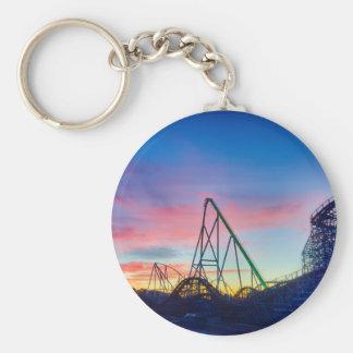 rollercoaster amusement ride keychain