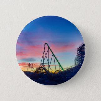 rollercoaster amusement ride pinback button