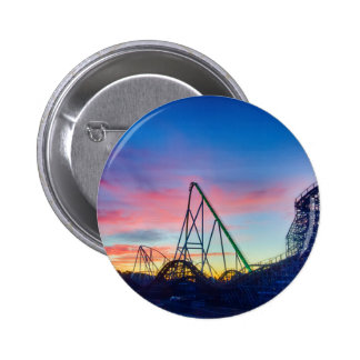 rollercoaster amusement ride pinback button