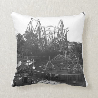 Rollercoaster Black and White Pillow