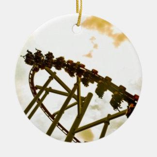 Rollercoaster Ceramic Ornament