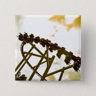 Rollercoaster Pinback Button