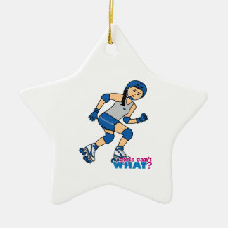 Rollerderby Girl -  Medium Ceramic Ornament