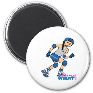 Rollerderby Girl -  Medium 2 Inch Round Magnet