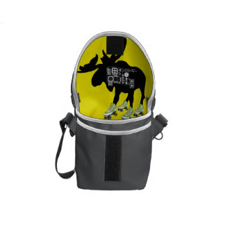 Rollerderby Moose Mini Messenger Bag inside