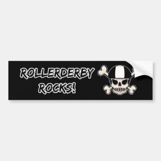 RollerDerby oscila el cráneo Pegatina Para Auto