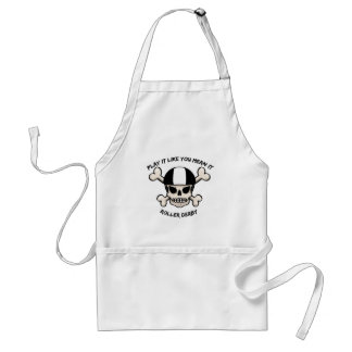 Rollerderby play it like you mean it adult apron